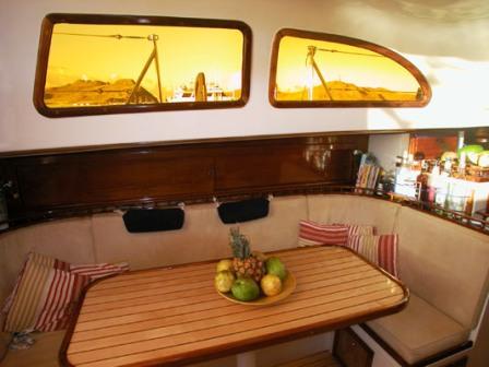 Kajüte des Segelboots Turpial