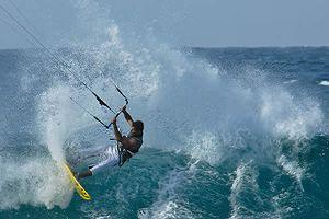 Kitesurfen im Korallenarchipel Los roques