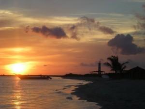 Baden auf der Isla Tortuga